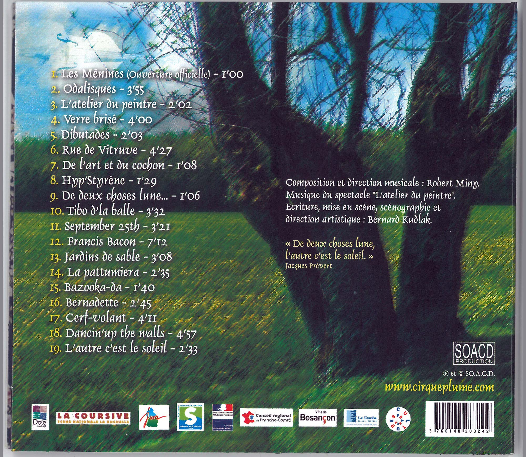 Back cover - CD L'atelier du peintre
