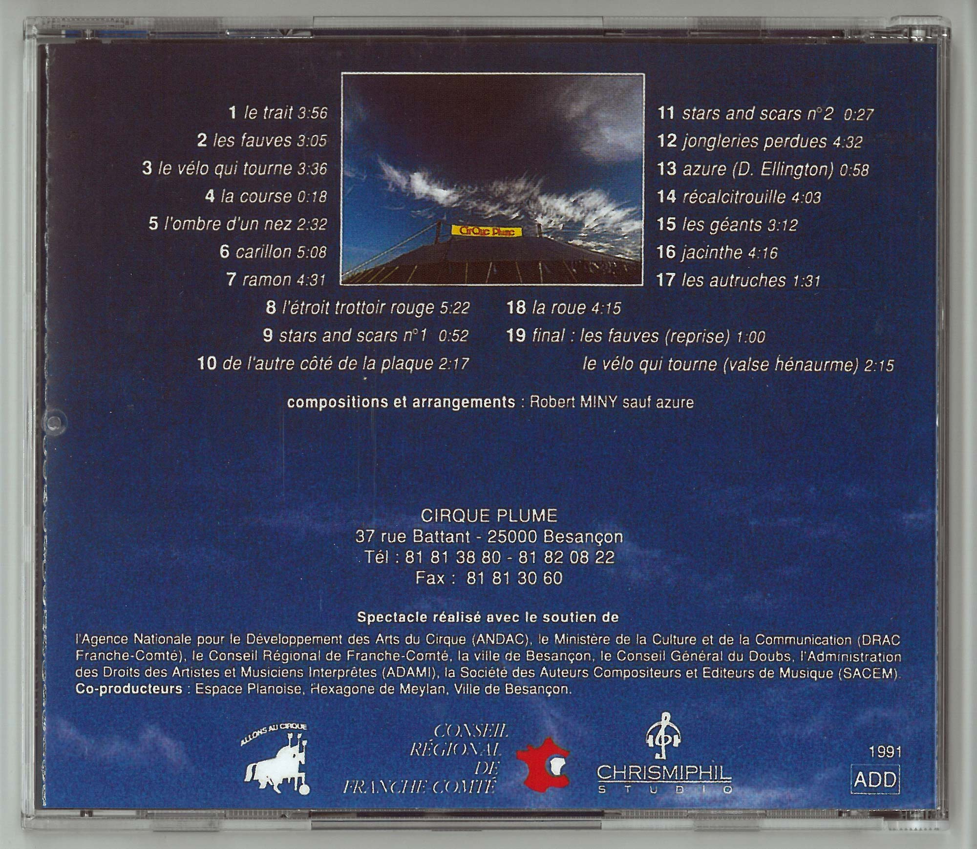 Back cover - CD No Animo Mas Anima