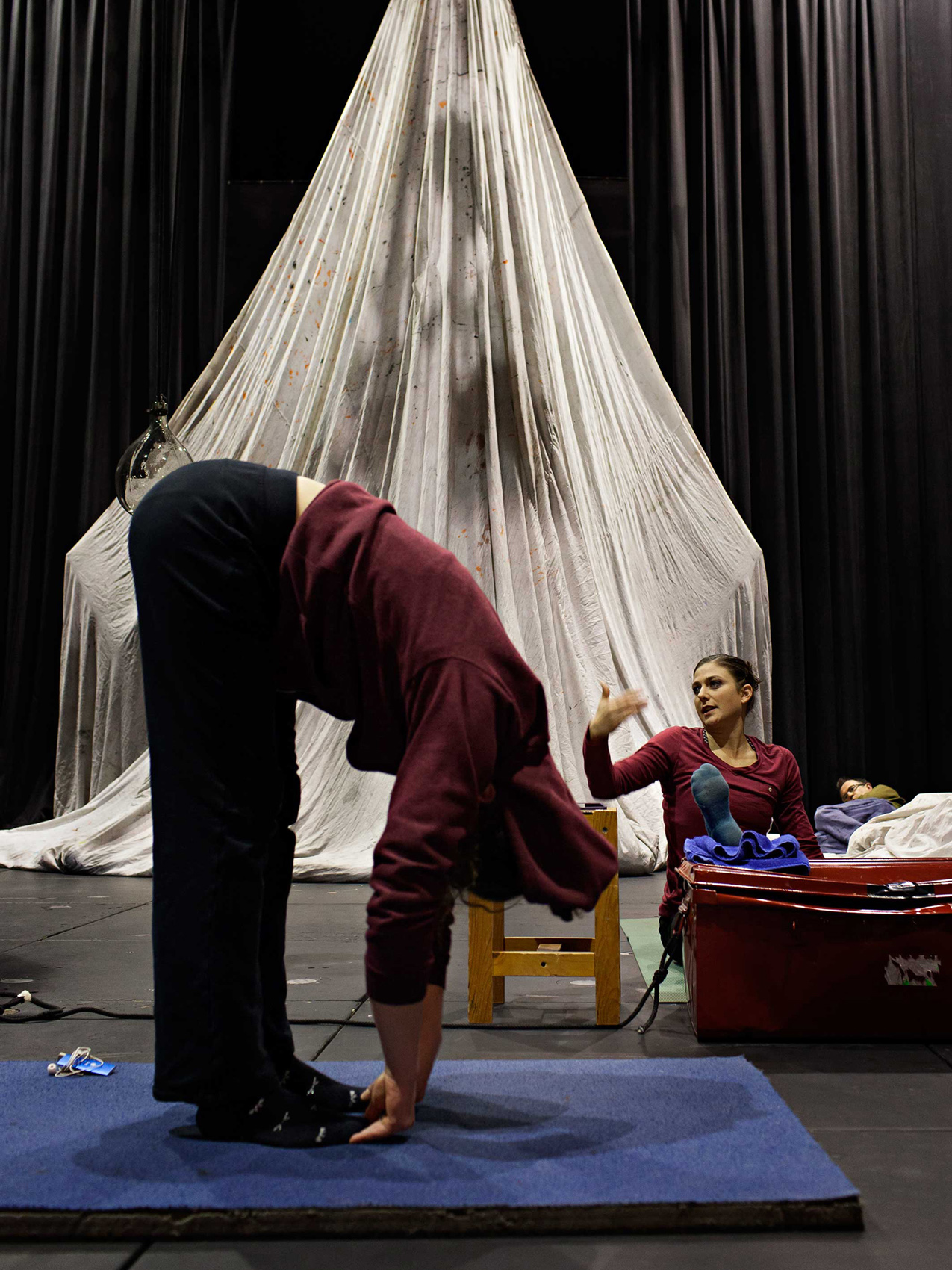 "Photo of creation and rehearsals - ""Tempus fugit ? une ballade sur le chemin perdu"" Anthony Voisin"