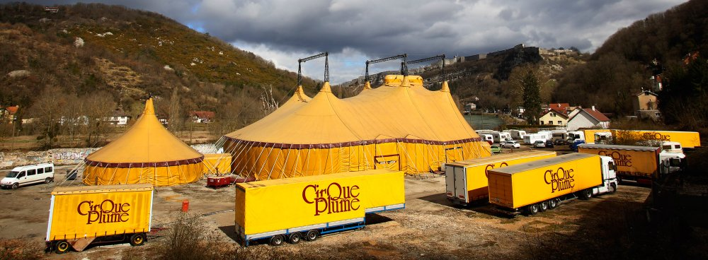 The Cirque Plume big top