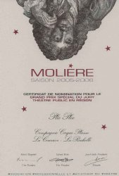 "VARIOUS PROJETCS | ""Plic Ploc appointed ""Molières 2005-2006'"" {JPEG}"