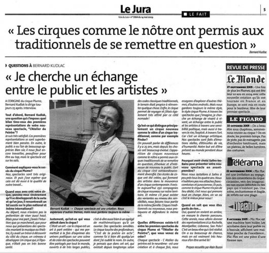 Interview of Bernard Kudlak | La Voix du Jura (presse_adp) {JPEG}